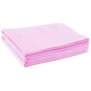 Table towel 500st paper/plastic Pink