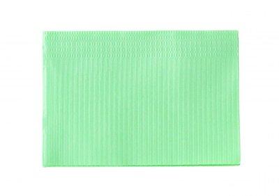 Table towel 120st paper/plastic Green
