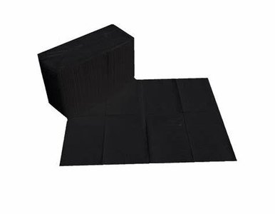 Table towel 50st paper/plastic Black